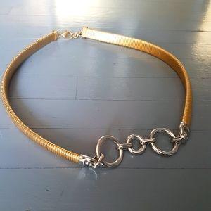 NWOT Zara Stretch Metal Belt